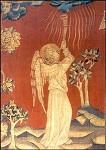 Bataille, N. Apokalyptischer Engel mit Posaune. KK