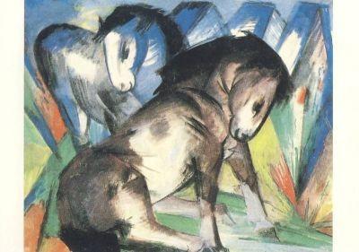 Franz Marc. Zwei Pferde