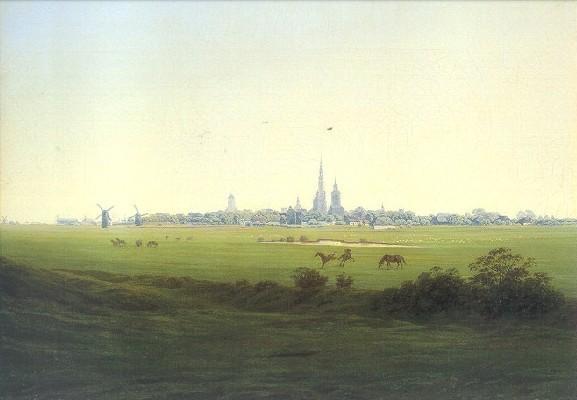 Caspar-David Friedrich. Wiesen bei Greifswald, um 1822. KK