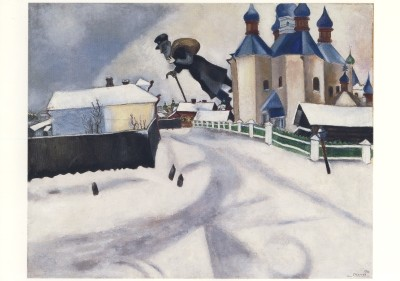 Marc Chagall. Über Witebsk, 1922