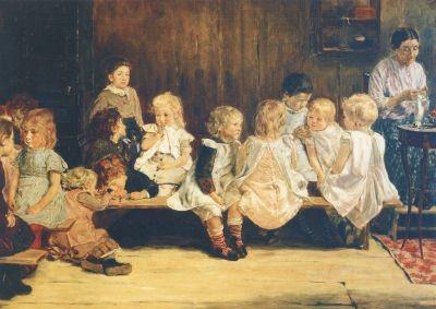 Max Liebermann. Kleinkinderschule in Amstersam, 1880