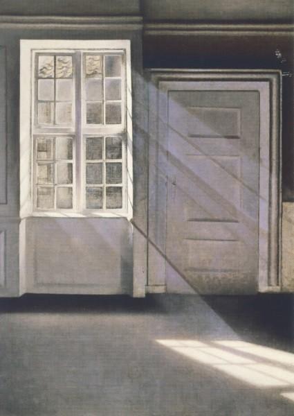 Vilhelm Hammershoi. Sonnenstrahlen oder Sonnenschein, 1900