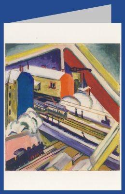 Ernst Ludwig Kirchner. Wannseebahn durch das Atelierf.