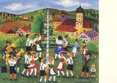 Schuster, H. Der Maibaum. KK