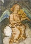 Engel mit Geige, 16. Jh. Wandmalerei. KK