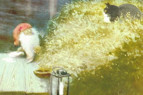Wiberg, H. Tomte und die Katze. KK.
