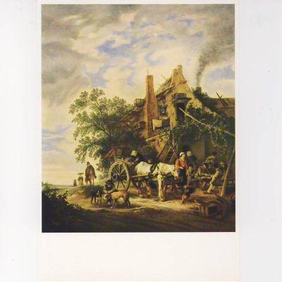Izaak van Ostade. Bauernherberge