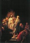Rembrandt. Auferstandene zeigt Thomas... KK
