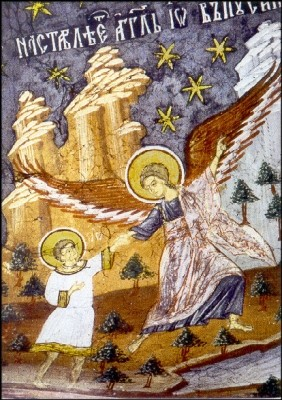 Byzantinisch. Schutzengel. Rumänisch. KK