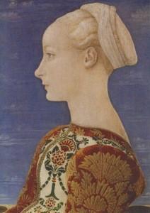 Pollaiuolo, Antonio del. Profilbildnis einer j. Frau,um 1465