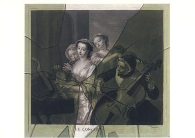 Francois Xavier Vispre. Trompe I´oeil eines Mezzotinto-Blatt