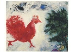 Marc Chagall. Der rote Hahn. KK