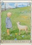 Beskow, E. Kind mit Schaf. KK
