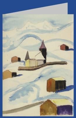 Hermann Hesse. Bei Arosa. Aquarell Januar 1929