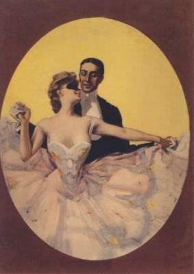 Ferdinand von Reznicek. Tanzpaar, 1900
