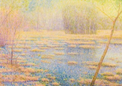 Wunnik, Jos. Blaugrüner Moorsee. KK