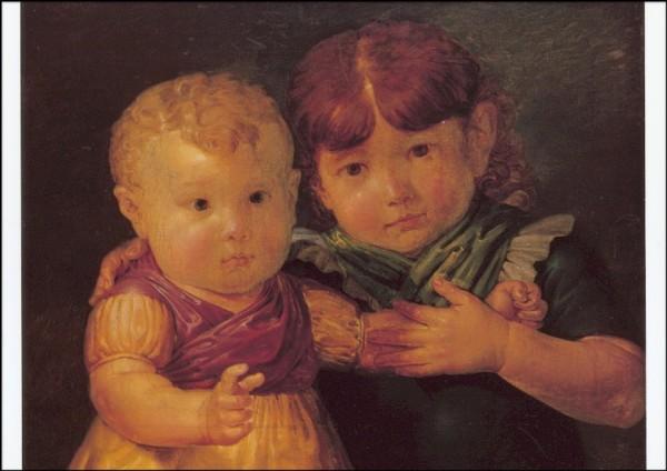 Otto Runge. Die Kinder Maria-Dorothea u. Otto Sigismund Runge.KK