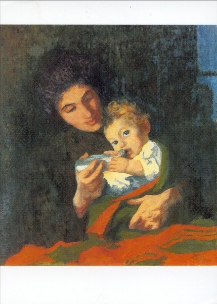 Giacometti, Giovanni. Mutter Annetta mit Sohn Alberto. KK