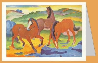Franz Marc. Die roten Pferde