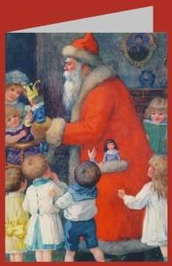 Roger, Karl. Der Weihnachtsmann mit Kindern