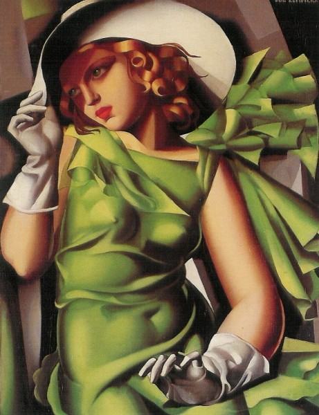 Lempicka, Tamara de. Das Mädchen in Grün, 1927. KK