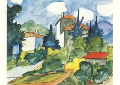 Hermann Hesse. Dorfeinfahrt, 1926