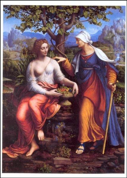 Melzi, Francesco. Vertumnus und Pomona, um 1518/22. KK