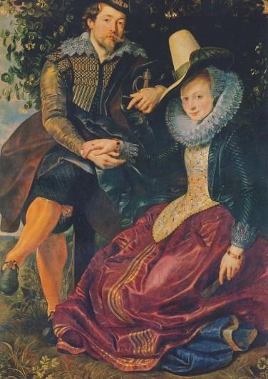 Rubens, P.-P. u.Isabella Brant i.d.Geissblattlaube, 1609.KK