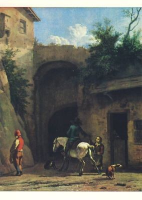 Karel du Jardin. Vor dem Wirtshaus, Jardin