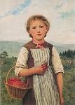 Albert Anker. Erdbeer-Mareili. KK