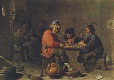 Devid Teniers. Drei musizierende Bauern
