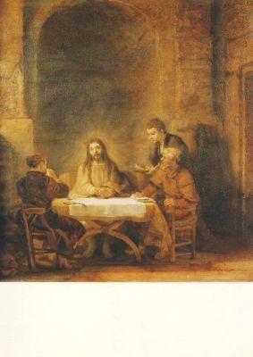 Die Emmaus-Jünger, van Rijn