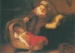 Rembrandt. Heilige Familie, 1645. Ausschnitt. KK