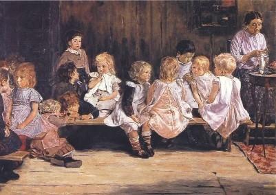 Max Liebermann. Kleinkinderschule, 1879/80. KK