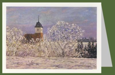 Bertelsmann, Walter. Worpsweder Kirche im Schnee. DK