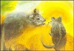 Dorothea Schmidt. Mäuse mit Sonne. KK
