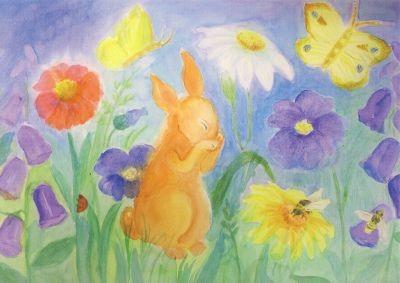 Dorothea Schmidt. Hase und Schmetterling