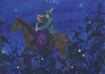 Daniela Drescher. Die kleine Prinzessin mit Prinz auf Pferd