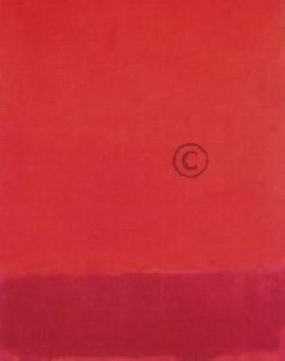 Rothko, Mark. Acryl auf Papier, auf einer Hartfaserplatte. K