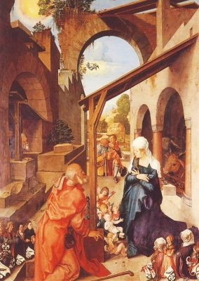 Albrecht Dürer. Die Geburt Christi,Paumgartner Altar. 2.Wahl
