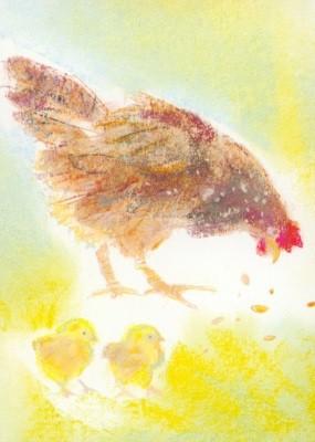 Grills, C. Meine Tiere 7, Huhn mit Küken. KK.