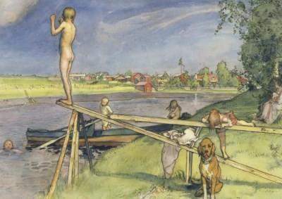 Larsson, C. Ein guter Badeplatz, 1896. KK