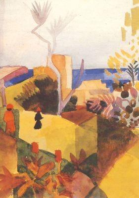 Landschaft am Meer, 1914, Macke