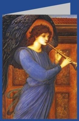 Edward Burne-Jones. Flageolett spielender Engel, DK