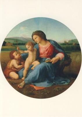 Raffael. Madonna d`Alba, Vollbild. KK