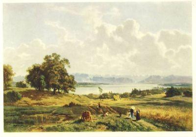 Cupy, A. Landschaft mit Reitern. KK
