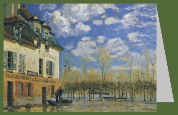 Alfred Sisley. Die Barke während der Überschwemmung, 1876