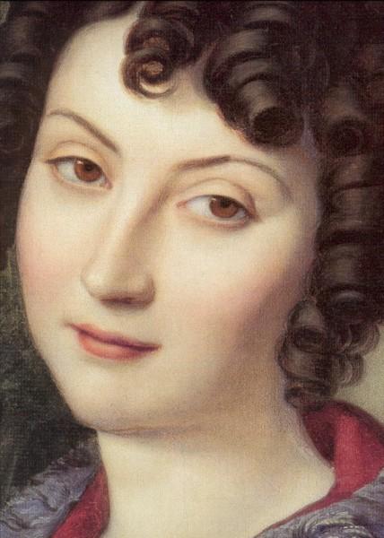 Hess, Heinrich.Bildnis der Marchesa Florenzi, Detail 1824.KK