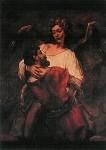 Rembrandt. Jakobs Kampf mit dem Engel, um 1600. KK