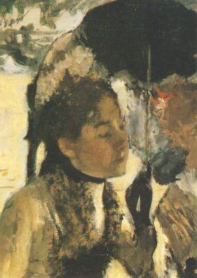 Edgar Degas. Frau mit Sonnenschirm